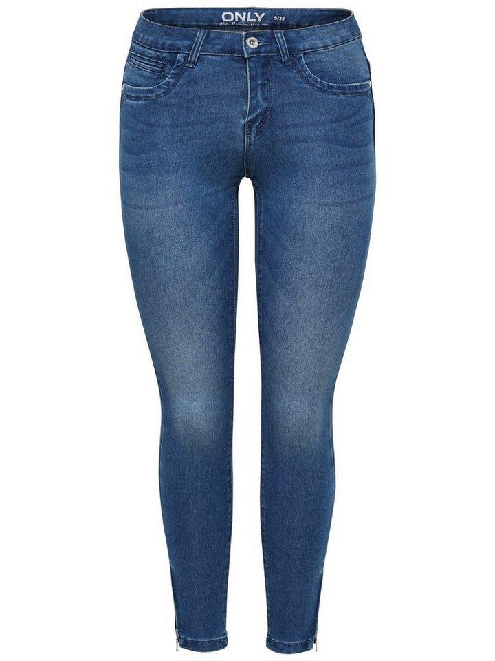 Only Kendell ultimate ankle Skinny Fit Jeans in Medium Blue Denim