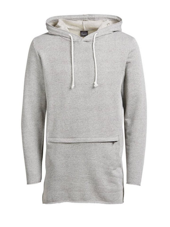 Jack & Jones Lässiger Hoodie in WHITE MELANGE