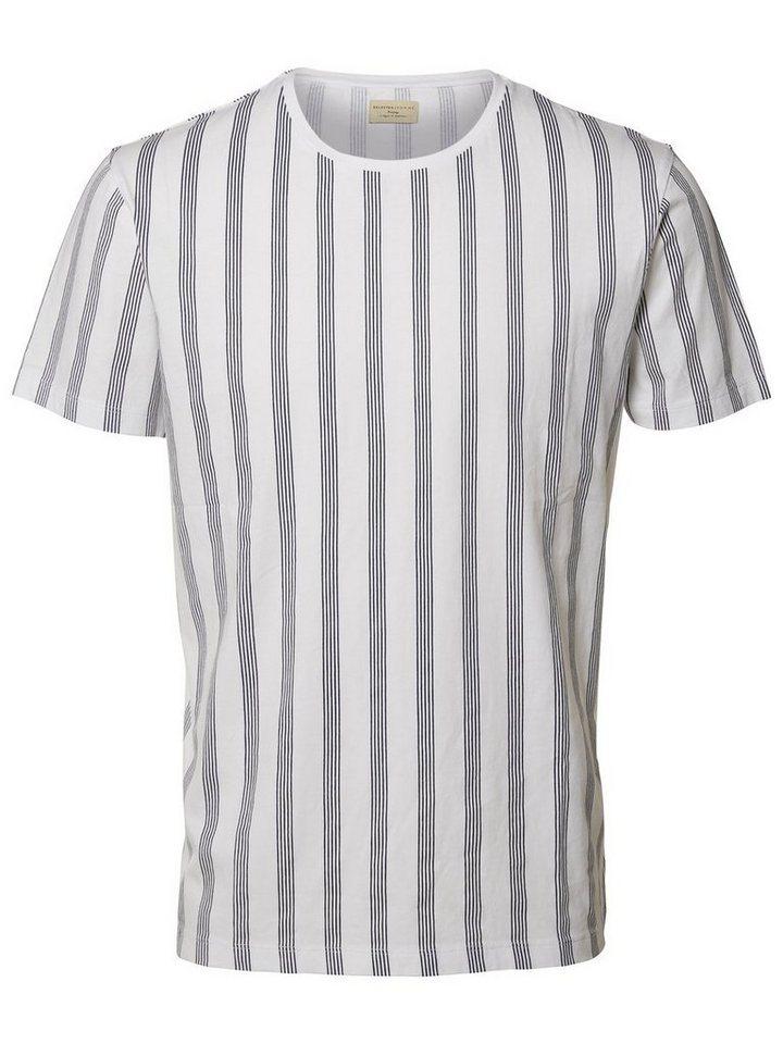 SELECTED O-Ausschnitt- T-Shirt in White