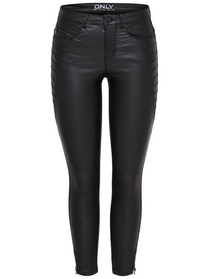 Only Royal rock zipcoin ankle Skinny Fit Jeans in Black