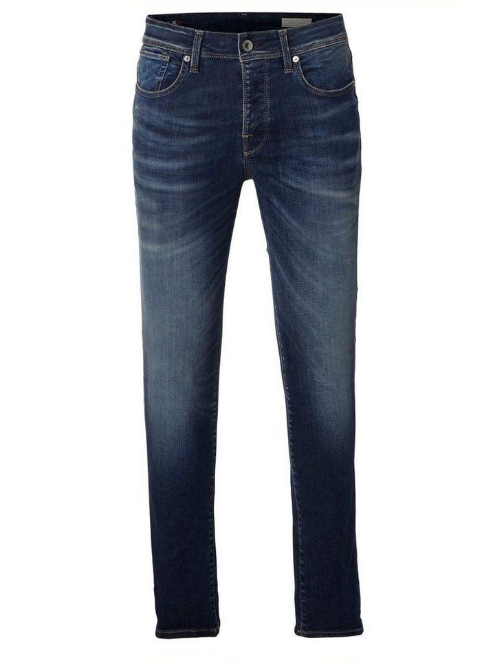SELECTED Blue - Skinny Fit Jeans in Medium Blue Denim