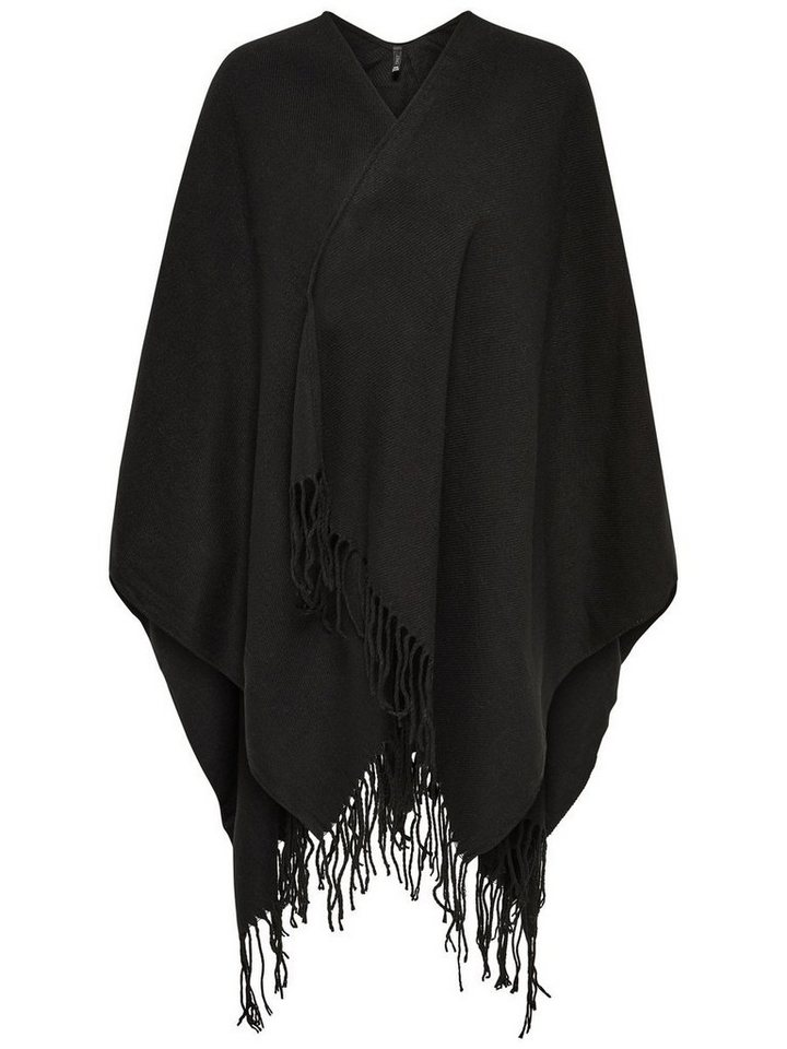 Only Einfarbiger Poncho in Black