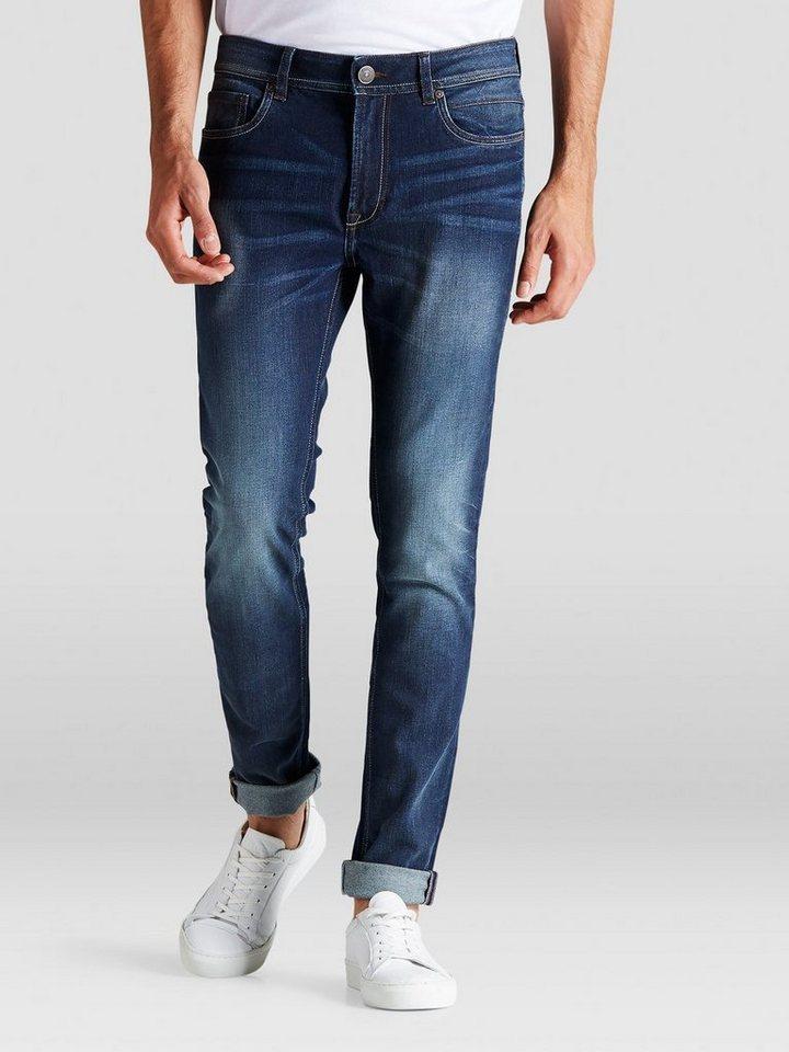 PRODUKT Lässige Skinny Fit Jeans in Blue Denim