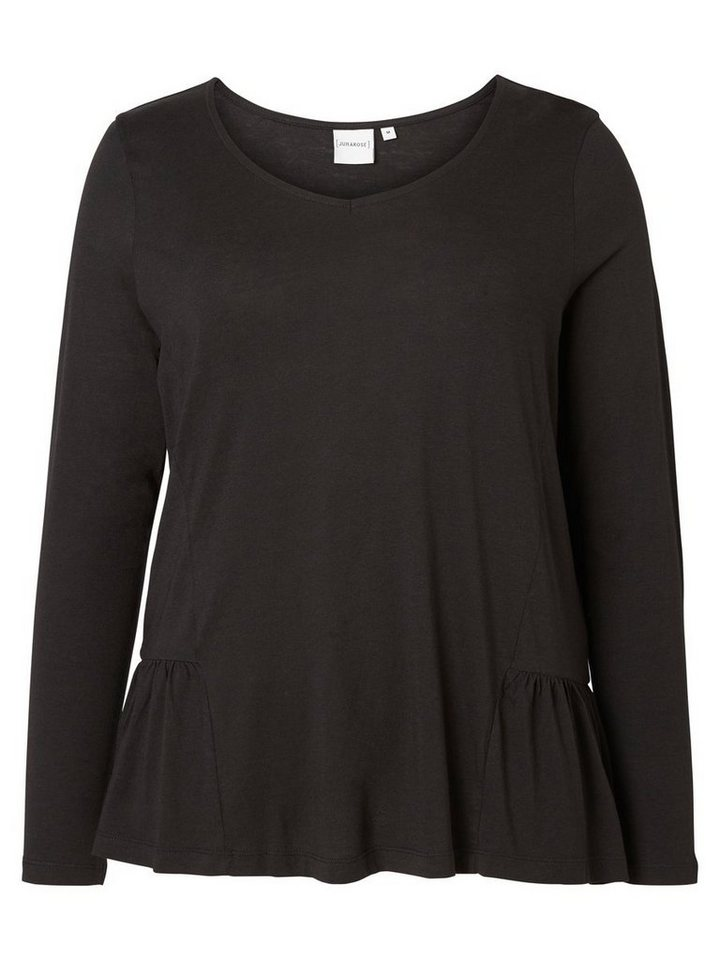 JUNAROSE Langärmelige Bluse in Black