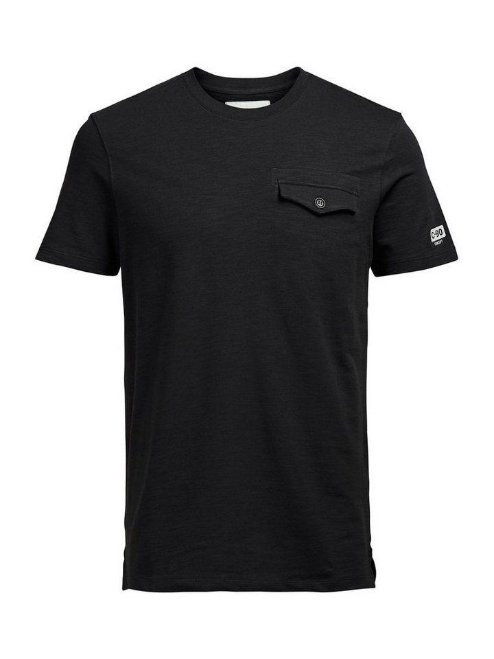 Jack & Jones Minimalistisches T-Shirt in Blue Graphite