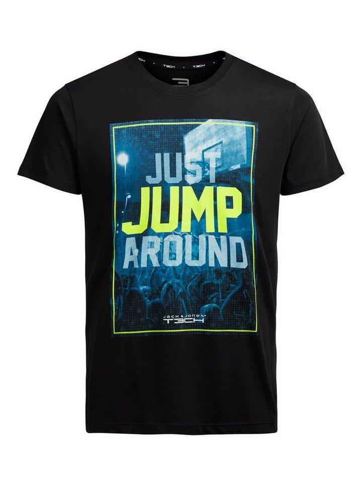 Jack & Jones Tech Bedrucktes T-Shirt in Black