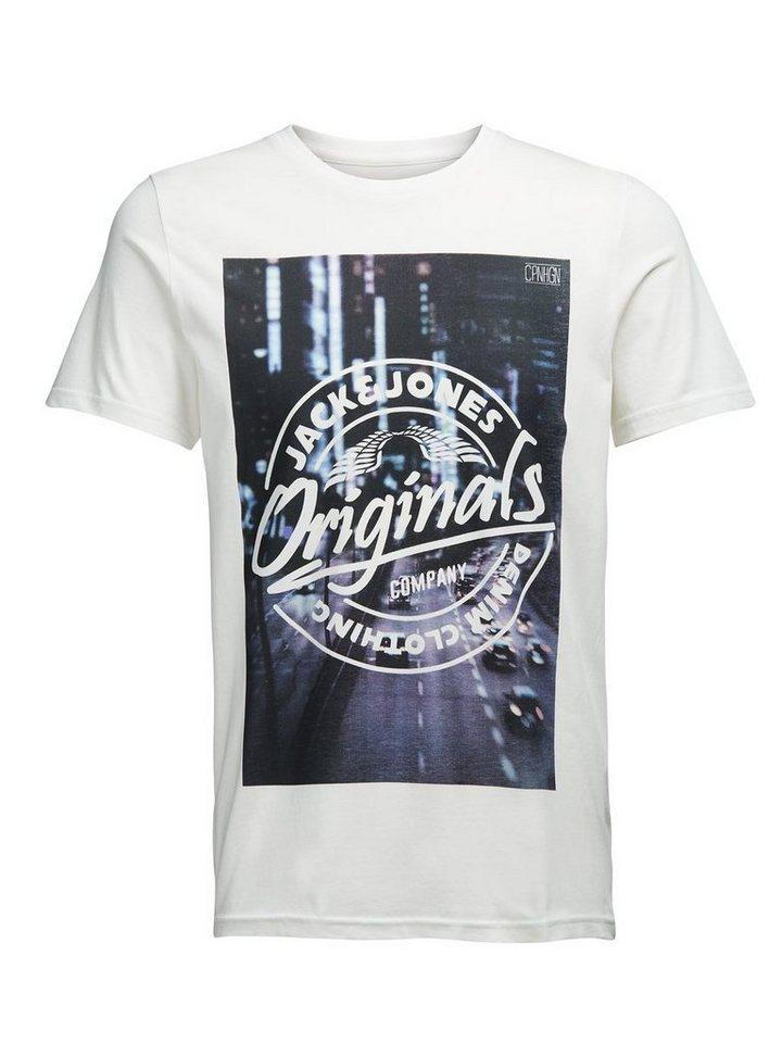Jack & Jones Fotoprint- T-Shirt in CLOUD DANCER