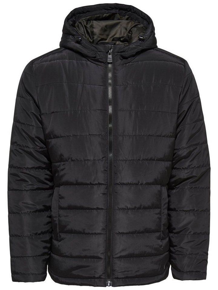ONLY & SONS Gefütterte Jacke in Black