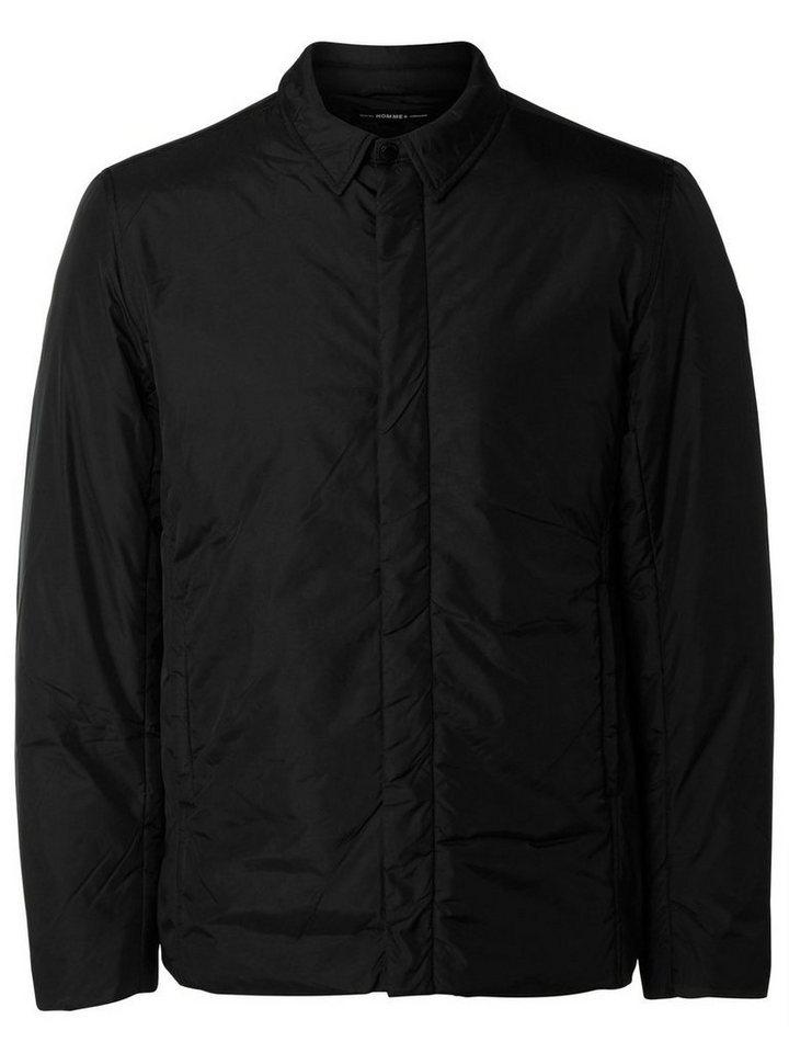 SELECTED Nylon-Hemd- Jacke in Black