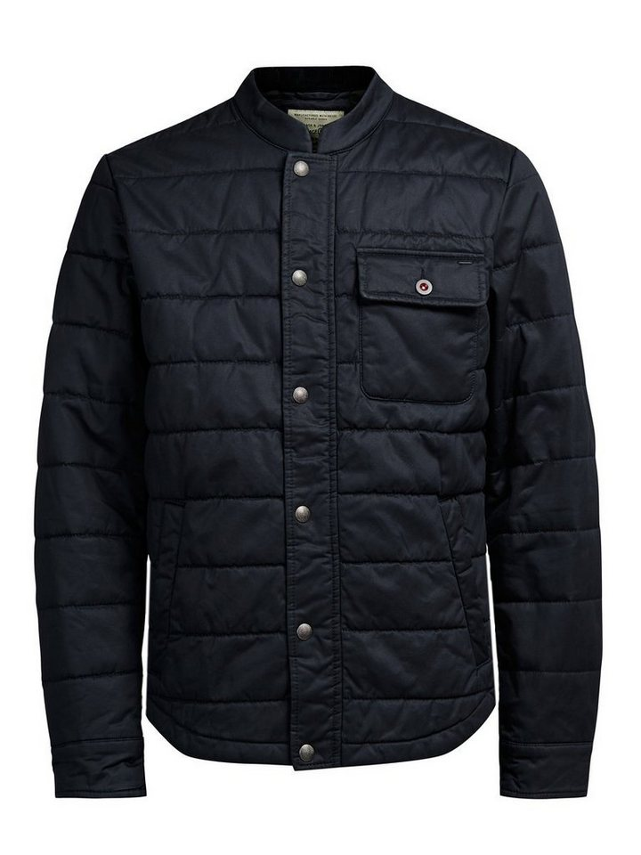 Jack & Jones Gewachste Steppjacke in DARK NAVY.