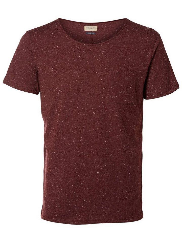 SELECTED O-Ausschnitt- T-Shirt in PORT ROYALE