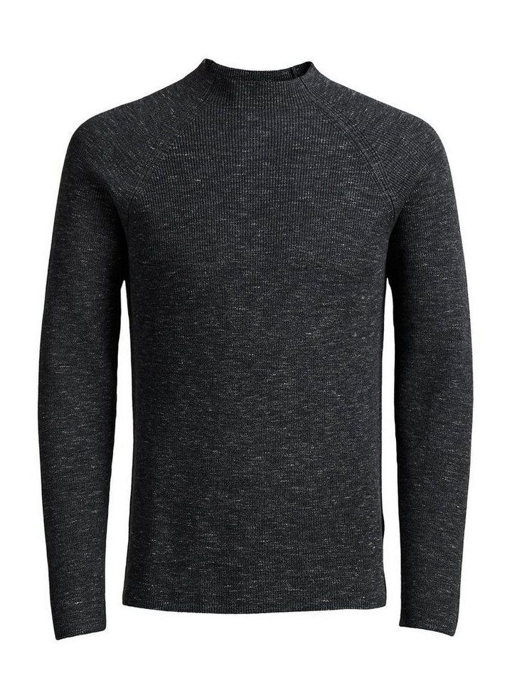 Jack & Jones High-Neck- Pullover in DARK GREY MELANGE