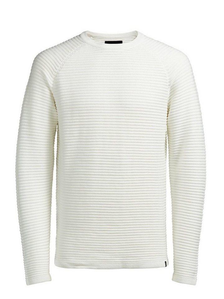Jack & Jones Texturierter Pullover in BLANC DE BLANC