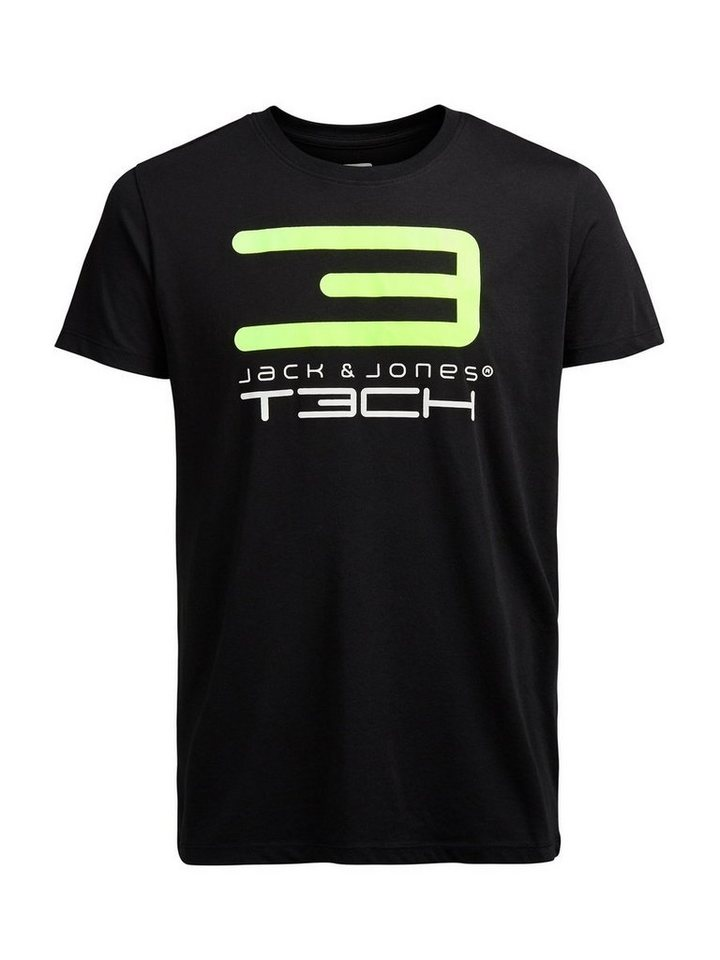 Jack & Jones Tech Lebhaft buntes T-Shirt in Black