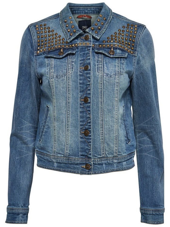 Only Niet- Jeansjacke in Medium Blue Denim