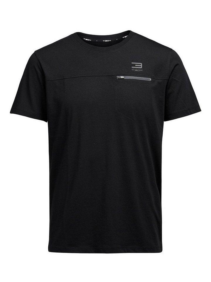 Jack & Jones Tech T-Shirt in Black