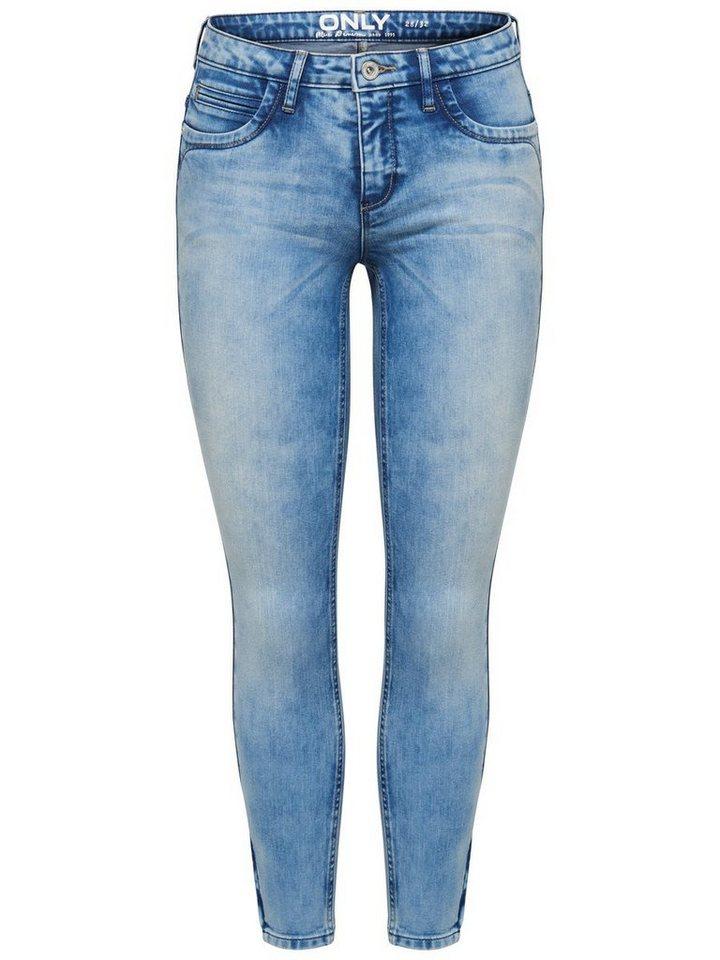 Only Kendell Ankle Slim Fit Jeans in Light Blue Denim