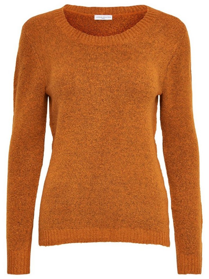 Only Einfarbiger Strickpullover in Pumpkin Spice