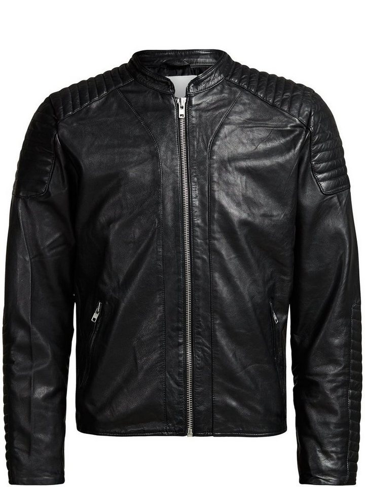 Jack & Jones Lammleder Biker- Jacke in Black