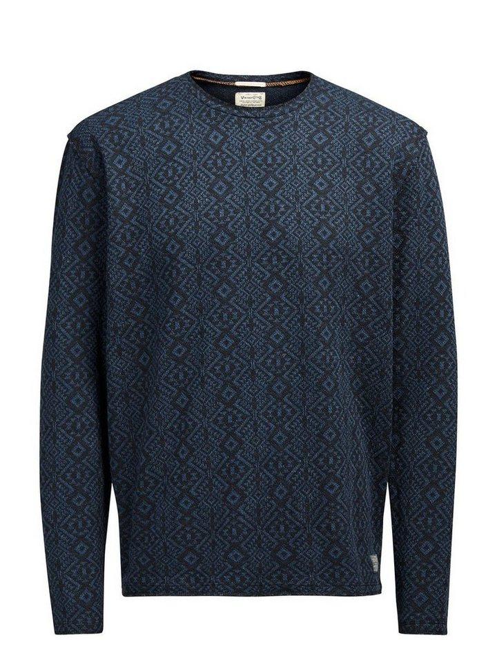 Jack & Jones Rustikales Sweatshirt in MOOD INDIGO