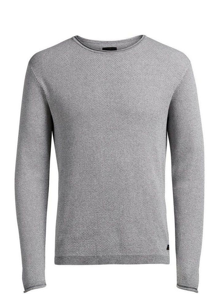 PRODUKT Basic- Pullover in GREY MELANGE