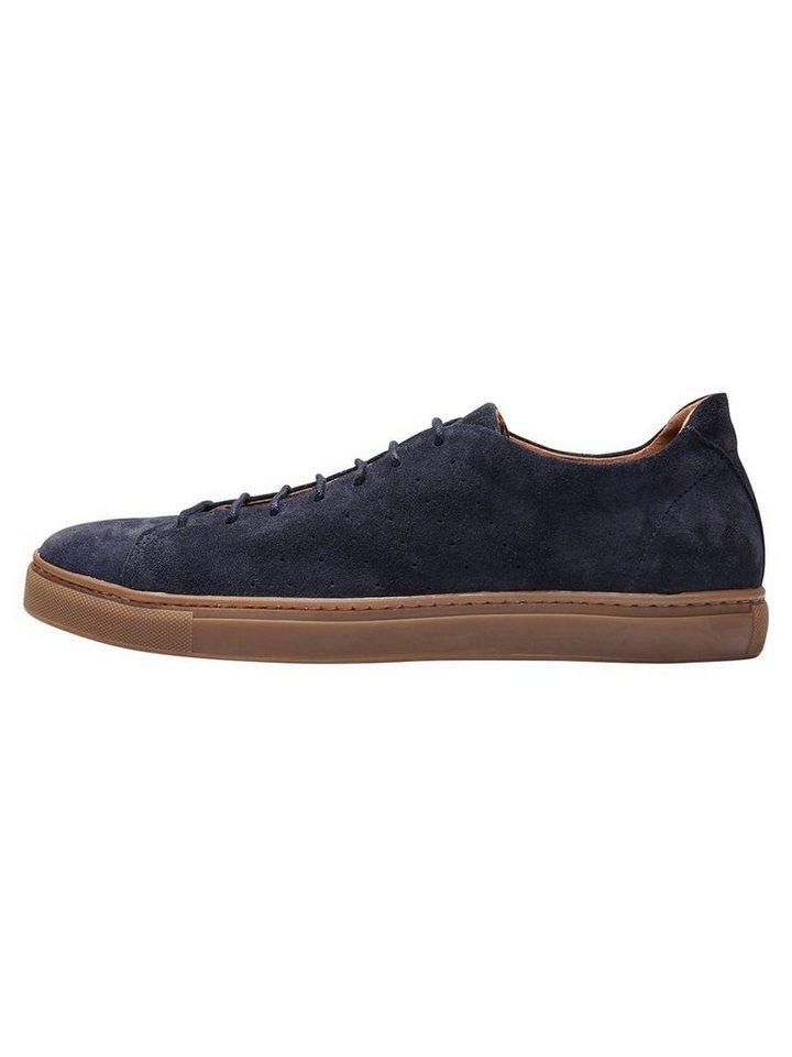 SELECTED Wildleder- Sneaker in DARK NAVY.