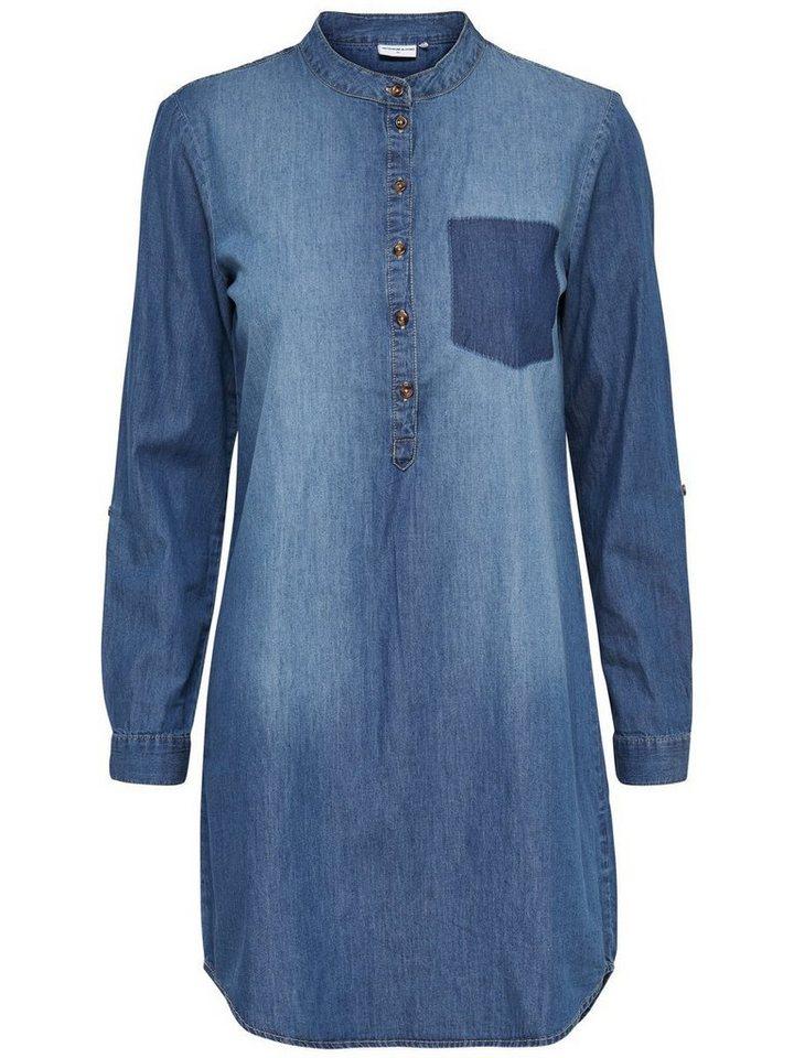 Only Lässiges Jeanskleid in Medium Blue Denim