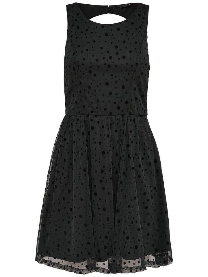 Only Spitzen- Kleid ohne Ärmel in Black