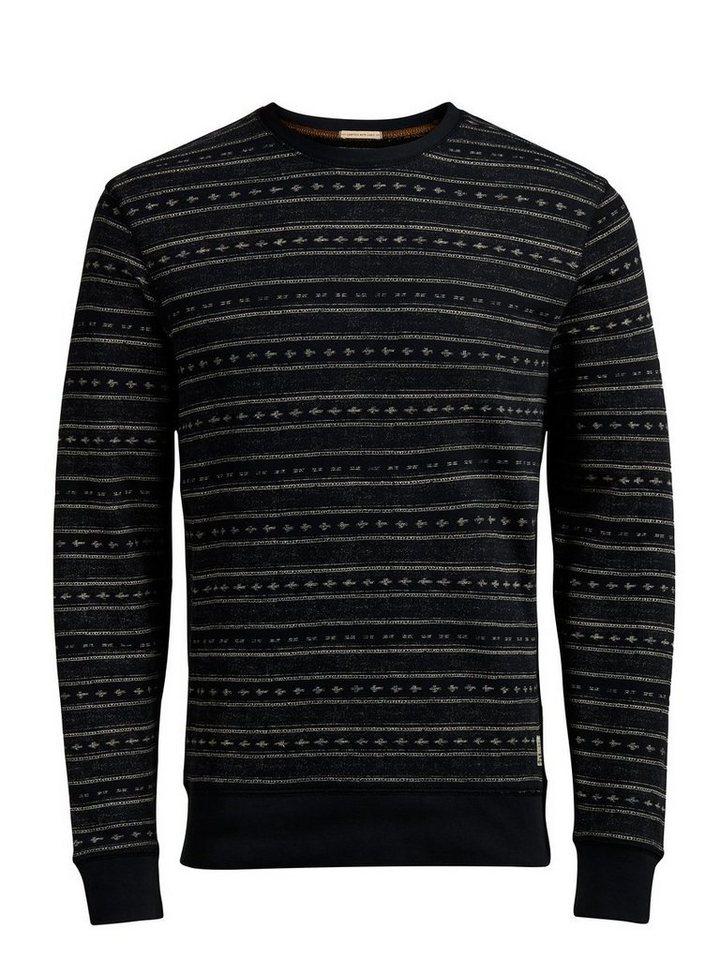Jack & Jones Gemustertes Sweatshirt in Caviar