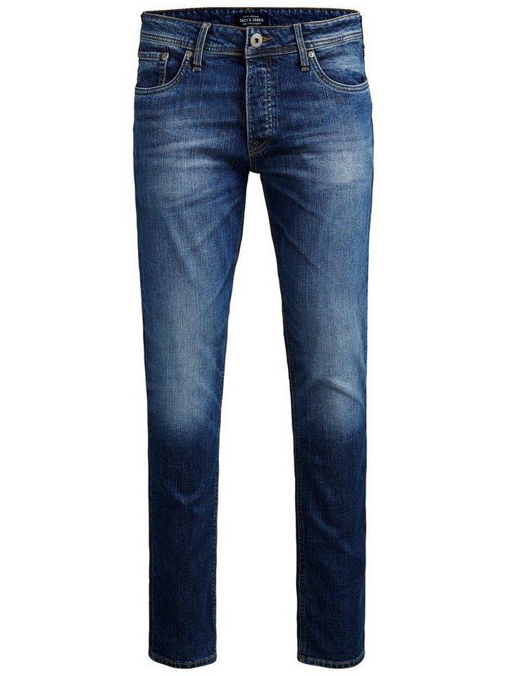 Jack & Jones Tim Original Am 012 Slim Fit Jeans in Blue Denim