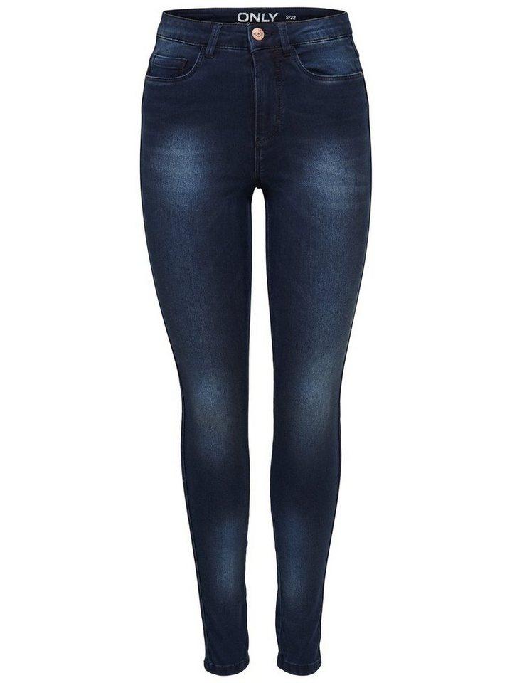 Only Ravage high waist dark blue Skinny Fit Jeans in Dark Blue Denim