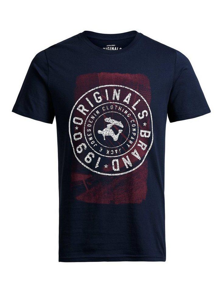 Jack & Jones Grafik- T-Shirt in Navy Blazer