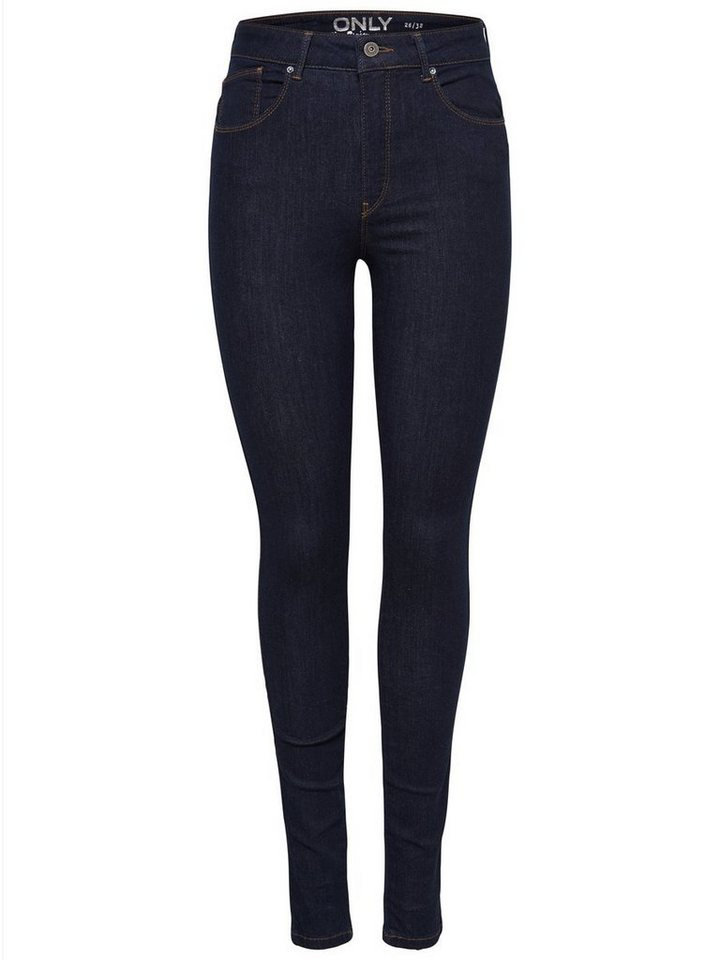 Only Piper High Waist Skinny Fit Jeans in Medium Blue Denim