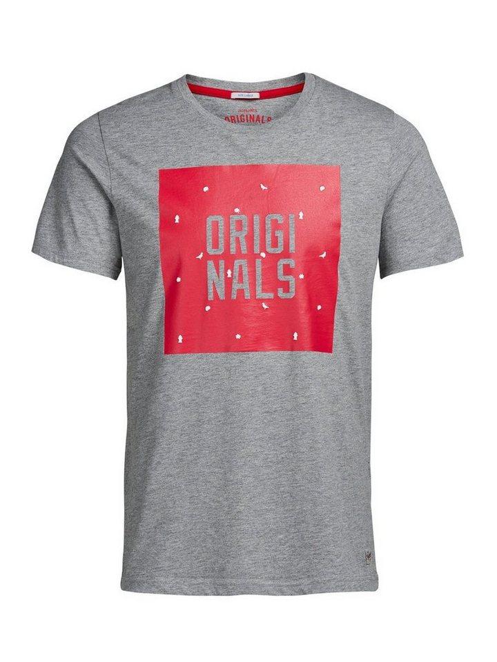 Jack & Jones T-Shirt in LIGHT GREY MELANGE 1