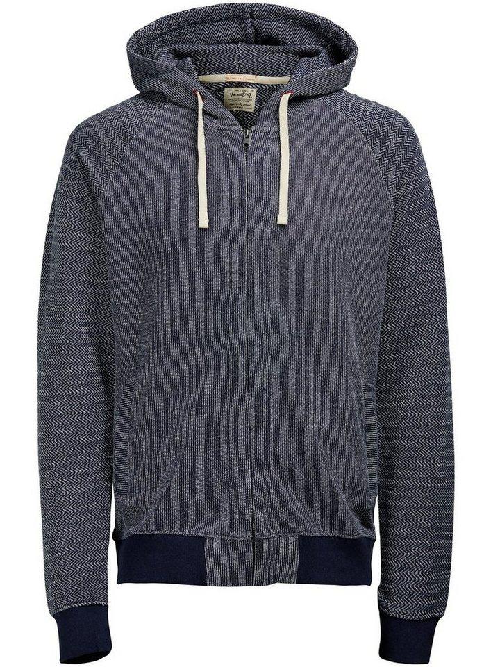 Jack & Jones Sweatshirt mit Reißverschluss in TOTAL ECLIPSE