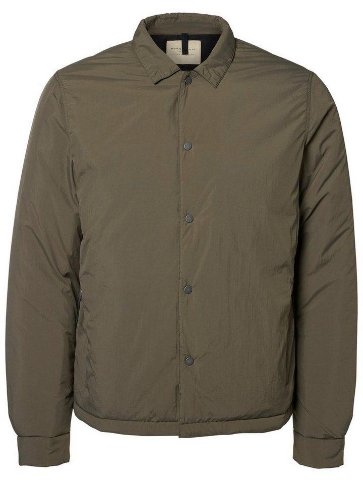 SELECTED Regular-Fit- Jacke in Castor Gray