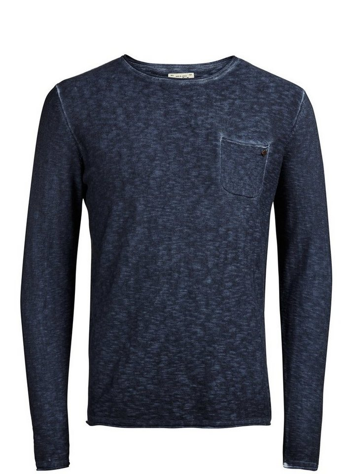 Jack & Jones Rustikaler Pullover in TOTAL ECLIPSE