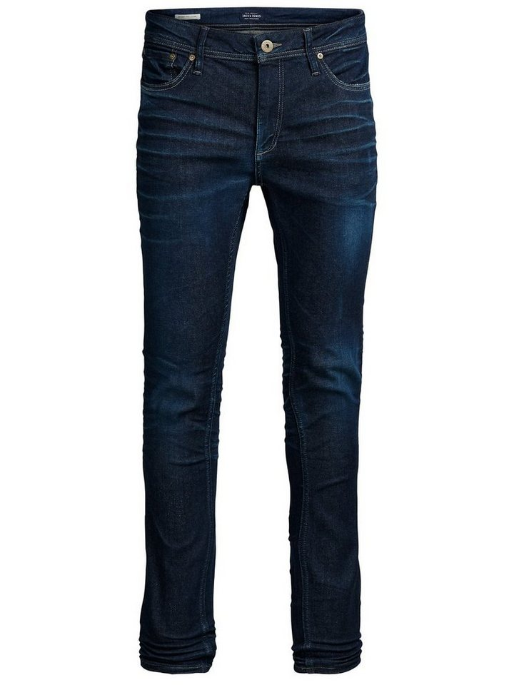 Jack & Jones Liam Original JJ 972 Skinny Fit Jeans in Blue Denim