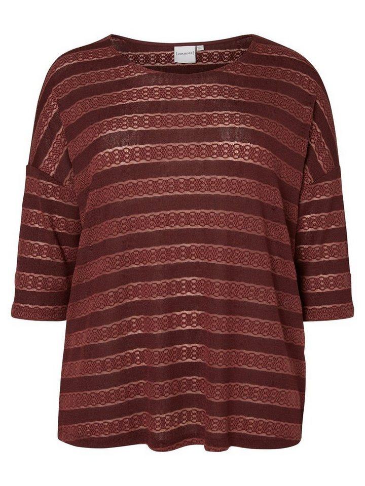 JUNAROSE 3/4-ärmelige Bluse in Decadent Chocolate