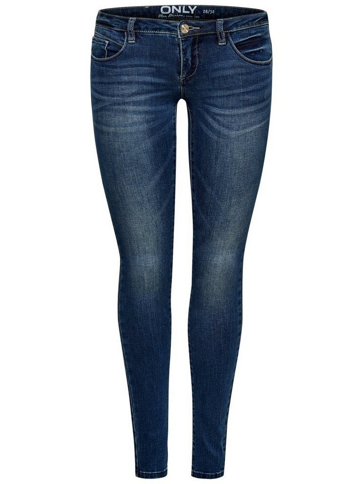 Only Coral Superlow Skinny Fit Jeans in Medium Blue Denim