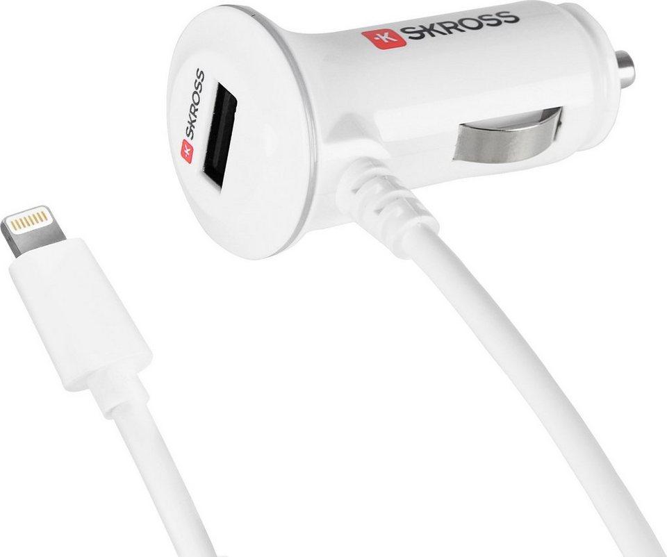 SKROSS Autoladegerät »Midget PLUS with Lightning Connector USB Car Charg« in Weiß