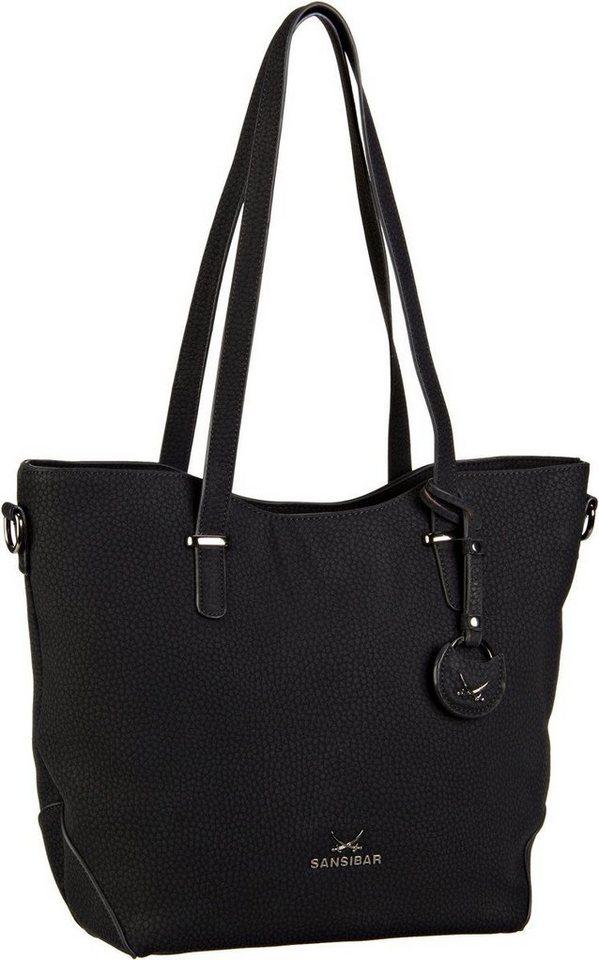 SANSIBAR Karajol Shopper Bag A4 in Black