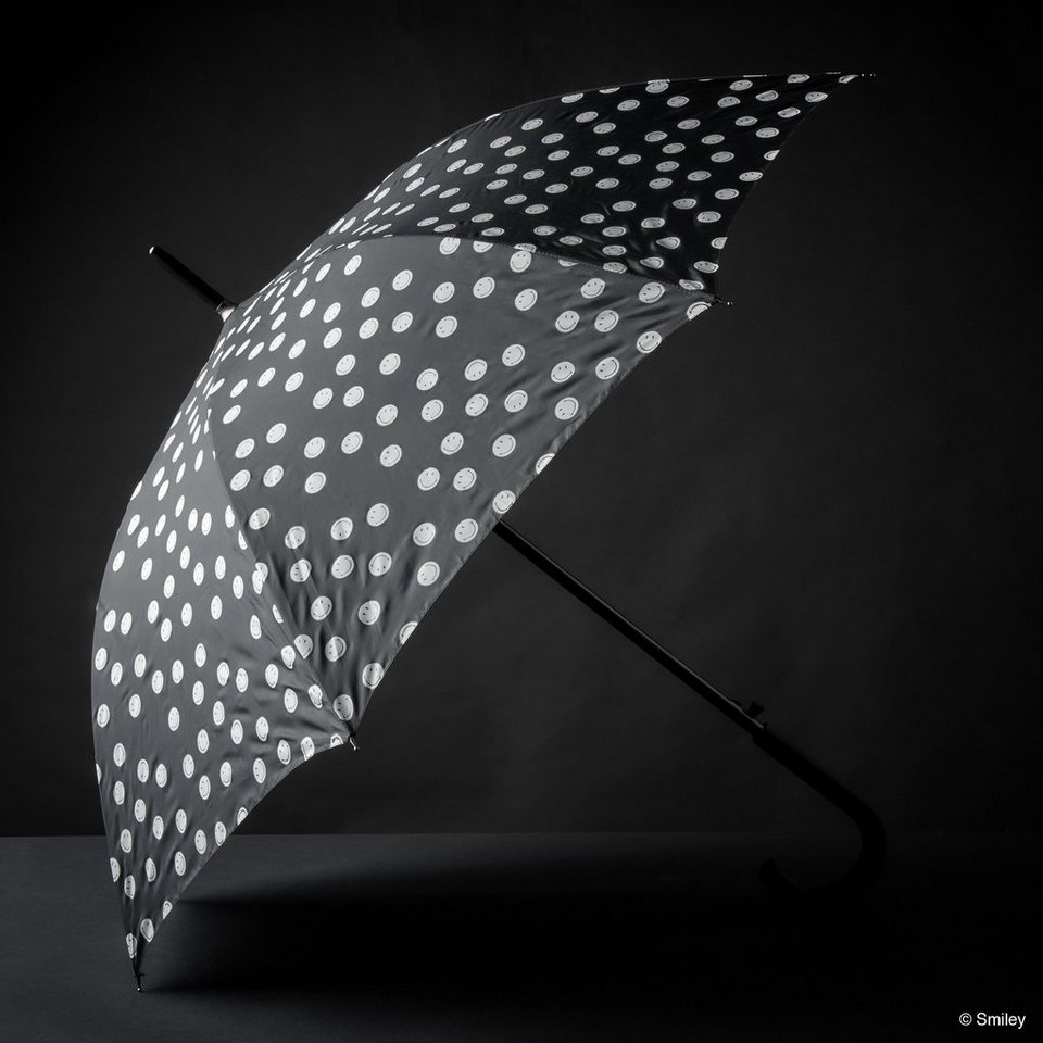 BUTLERS SMILEY »Regenschirm« in schwarz