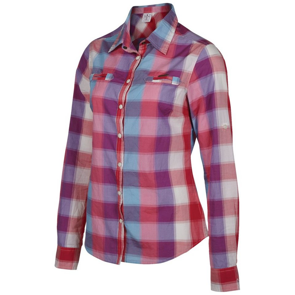 Chiemsee Bluse »GRAY« in check carmin r