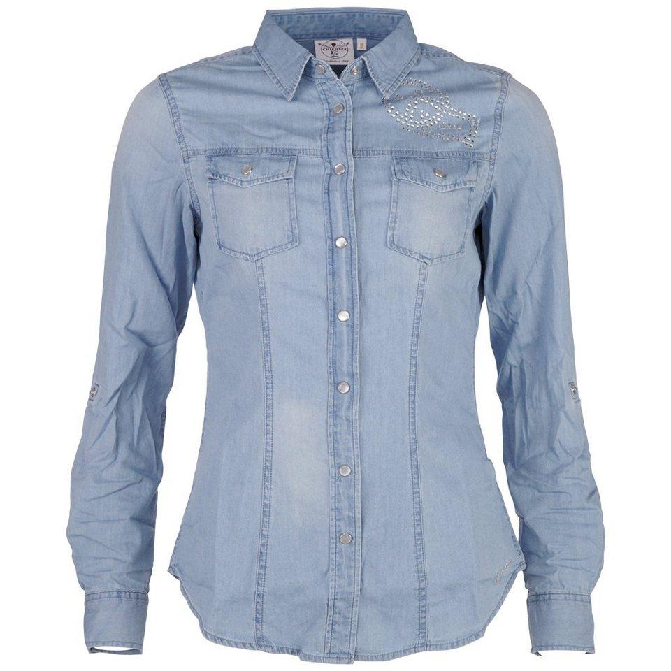 Chiemsee Damen Bluse »KILENA« in vintage indigo