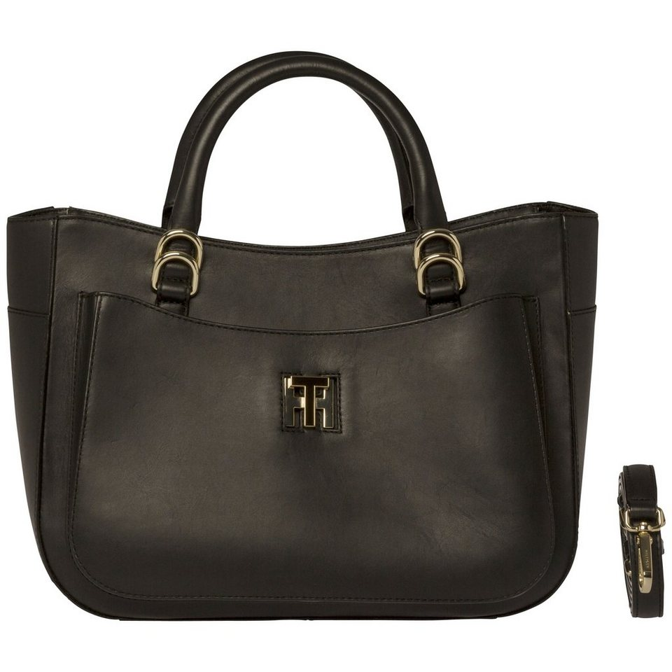 tommy hilfiger handtasche th twist leather tote otto. Black Bedroom Furniture Sets. Home Design Ideas