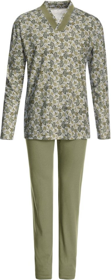Schlafanzug, Götting in grün-bedruckt