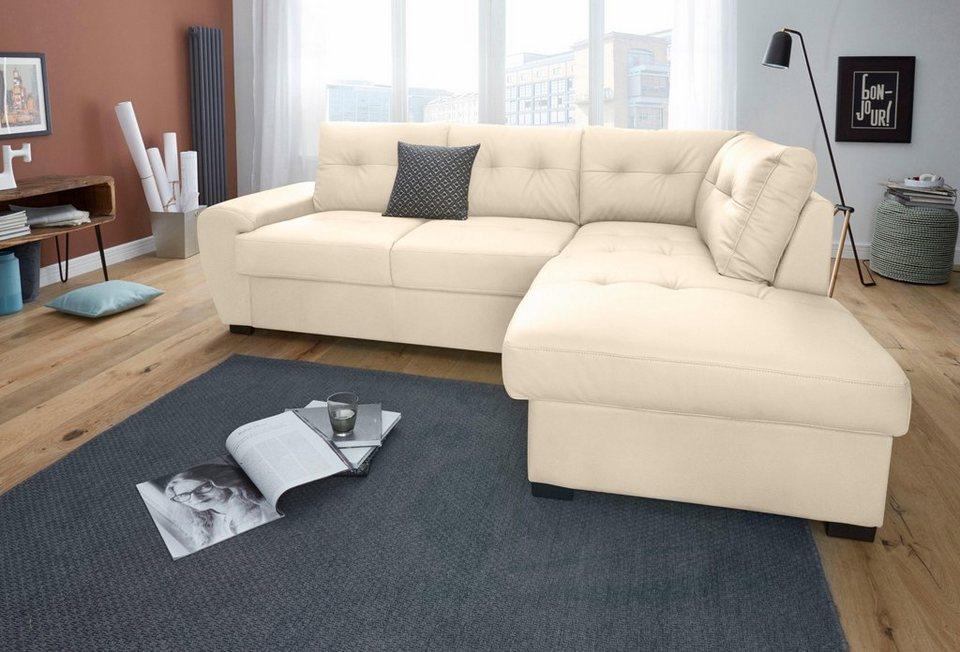 cotta polsterecke wahlweise mit bettfunktion otto. Black Bedroom Furniture Sets. Home Design Ideas
