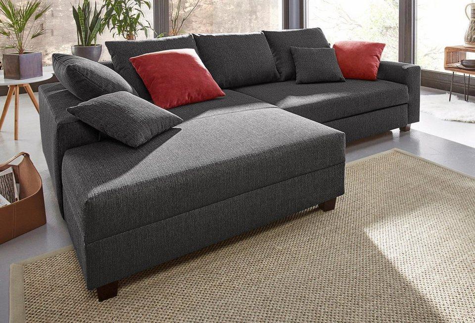 trendmanufaktur ecksofa mit bettfunktion und xl recamiere. Black Bedroom Furniture Sets. Home Design Ideas