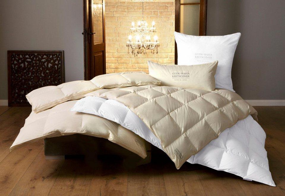 Bettdecke Kopfkissen Gmk Guido Maria Kretschmer Home Living Extrawarm Material Fullung Daunen Federn Set Online Kaufen Otto